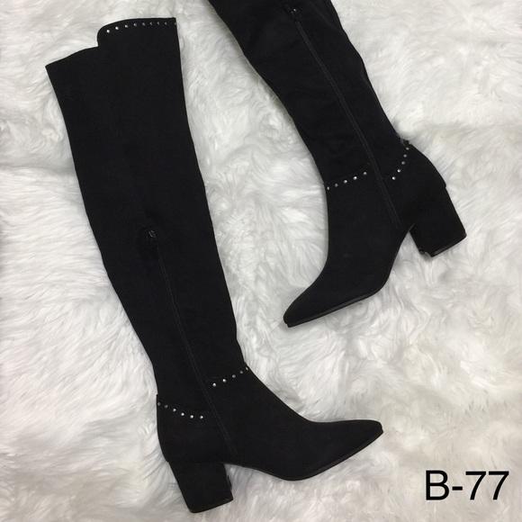 2fbaeccbd37 Seven Dials Nicki Boots Womens Heel Over The Knee